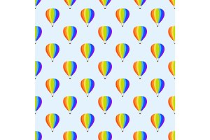 Ballon aerostat transport seamless pattern vector.
