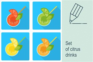 Set citrus drinks