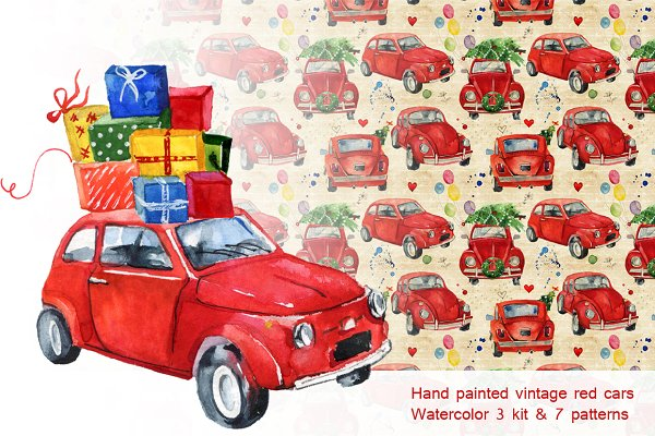 Kits & patterns of four cars painte…