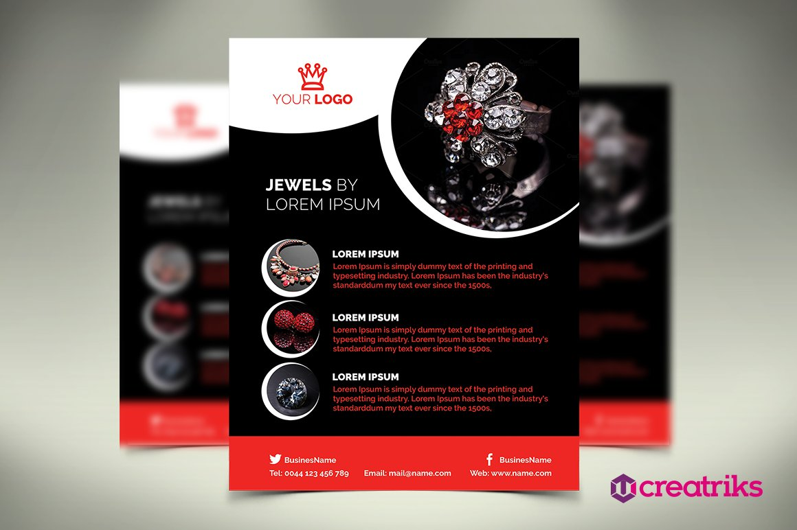 Jewelry Flyer Flyer Templates Creative Market