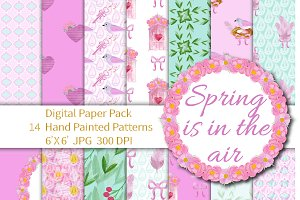 Spring is in the Air Digital Paper