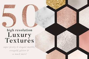 50 luxury gold & marble textures