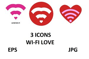 WI-FI love icons