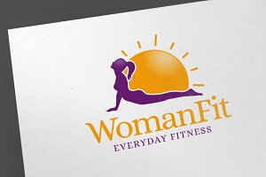 Woman Fit Logo Template