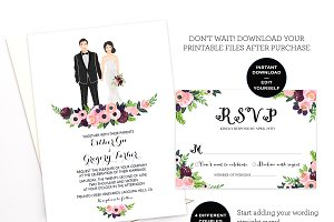 Editable Wedding Invitation