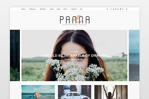 Panna - Blog & Shop Wordpress Theme
