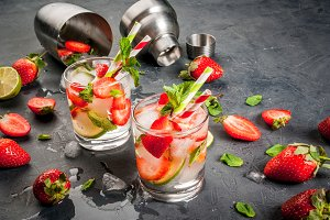 Mojito with strawberry