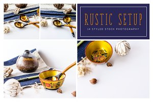Rustic Setup, Styled Photo Pack