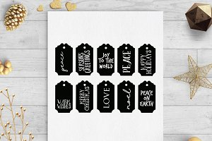 christmas gift tags svg & dxf