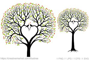 Wedding tree, vector
