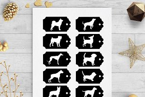 dog gift tags svg & dxf