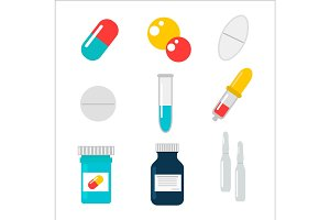 Tablet pills vector illustration.