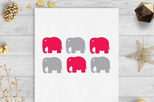 elephant baby shower gift tags svg