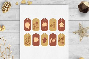 fall gift tags svg & dxf