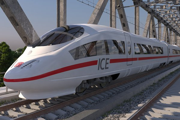 3D Vehicles: 3D Models by Obshansky - High-speed Train ICE 3 Siemens