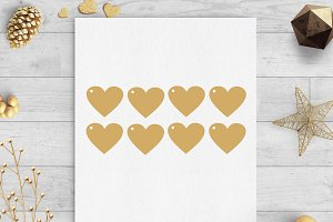heart gift tags svg & dxf