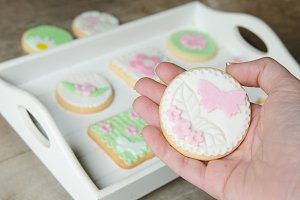 Freshly Baked Spring Flower  Cookies