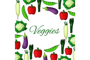 Natural vegan natural vegetable food poster