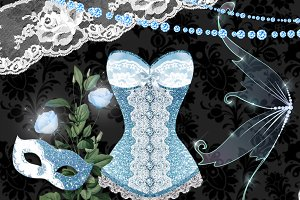 Moonlight Debutante Clipart
