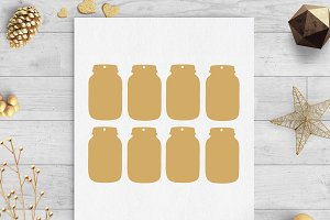 mason jar tags svg & dxf