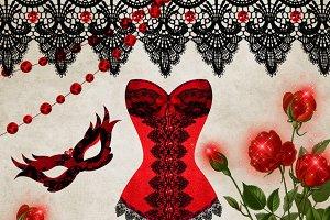 Scarlet Debutante Clipart