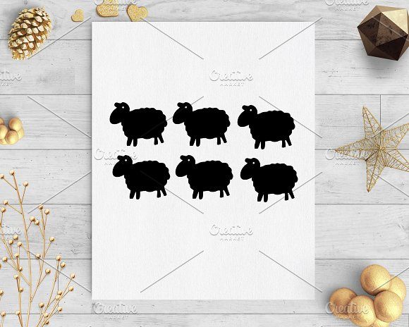 Sheep Baby Shower Gift Tags Svg Dxf