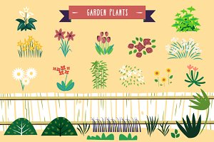 :::Vector Garden Plants & Flowers:::