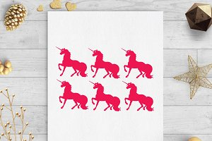unicorn kids gift tags svg dxf