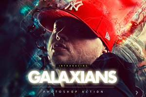 Galaxians Photoshop Action