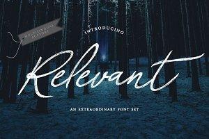 Relevant Brush Typeface