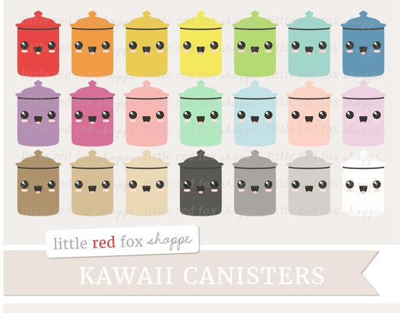 Kawaii Canister Clipart