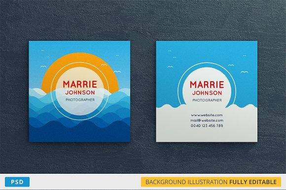 PhotoMarina Square Business Card