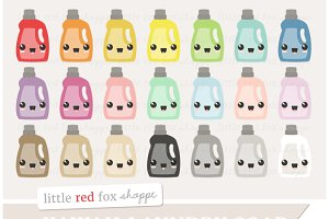 Kawaii Laundry Soap Clipart