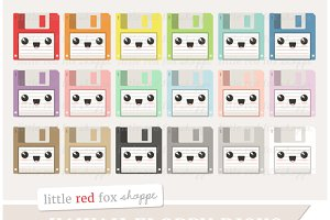 Kawaii Floppy Disk Clipart