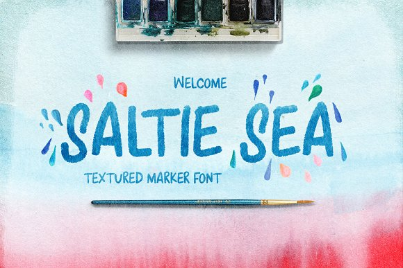 Saltie Sea Digital Font