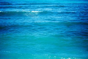 Pure blue water with sea wave