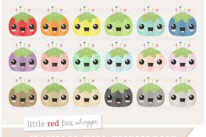 Kawaii Pin Cushion Clipart