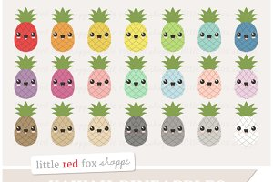 Kawaii Pineapple Clipart
