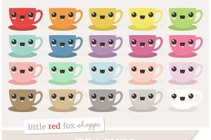 Kawaii Teacup Clipart