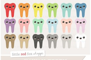 Kawaii Teeth Clipart