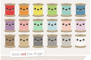 Kawaii Thread Spool Clipart