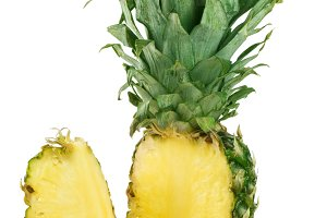 pineapple cut isolated on a white background
