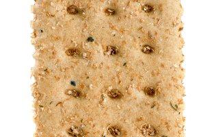 grain crispbreads isolated on white background