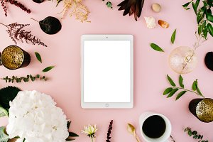 Tablet and floral composition