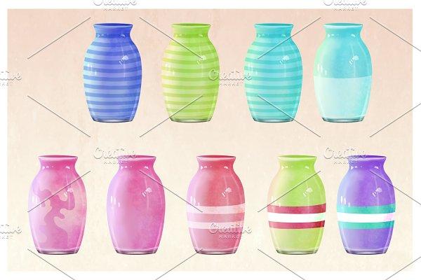 Ceramic Vases & twigs (full pack)