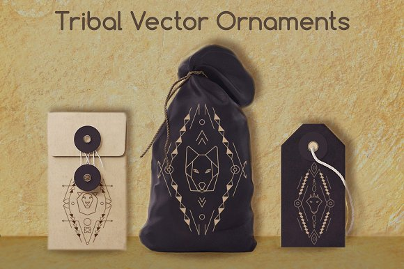 3 Tribal Animal Ornaments