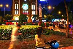 Notre Dame cathedral in Ho Chi Mihn city Vietnam