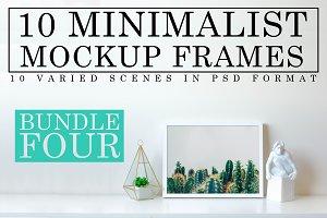 10 Minimalist White Mockup Frames