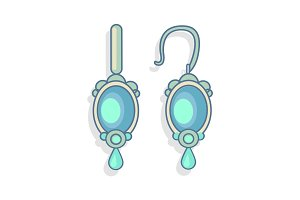 Blue Earrings Beautiful Accessory