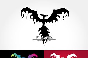 Elegant Phoenix logo icon